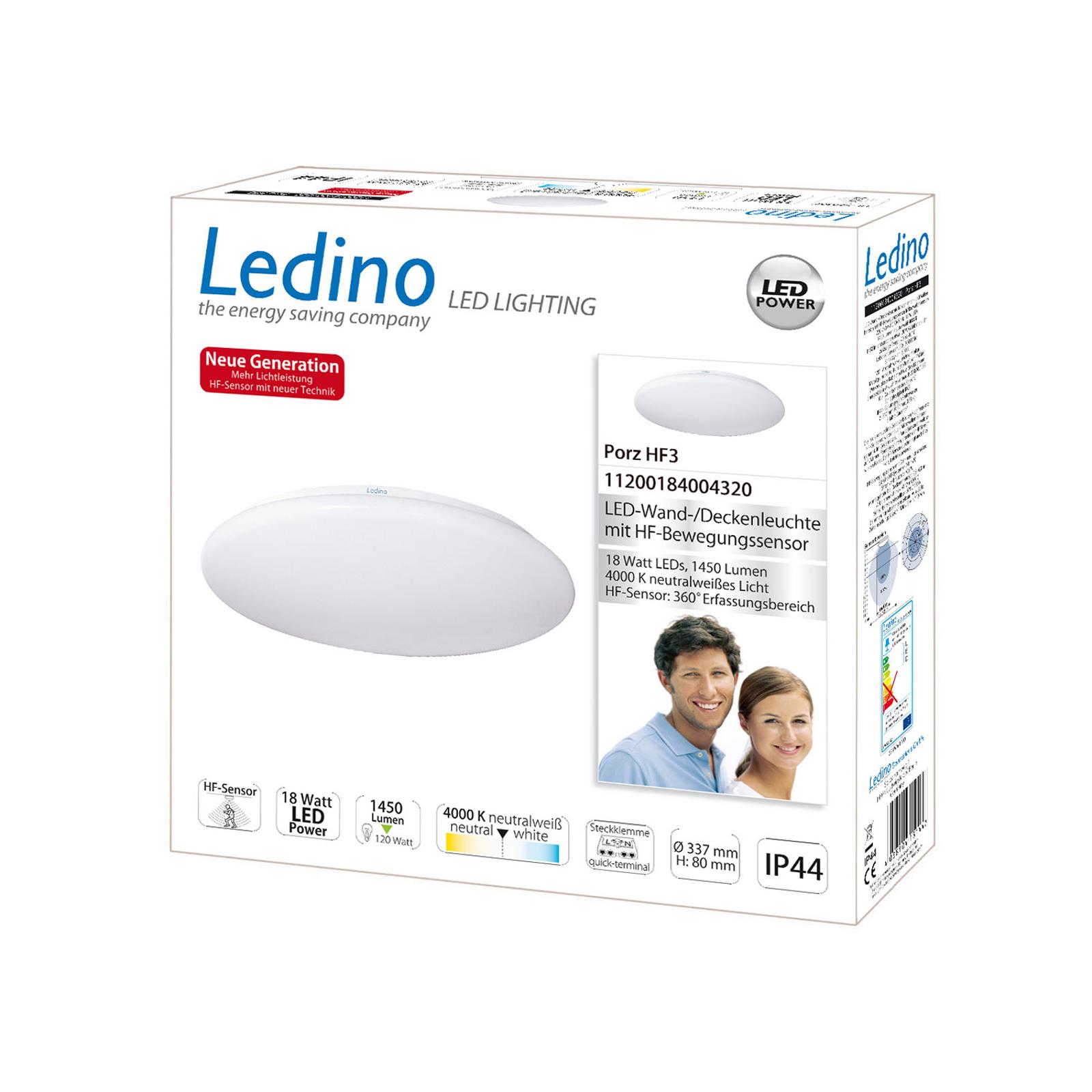 LED-Deckenleuchte Porz IP44 HF-Sensor, weiß