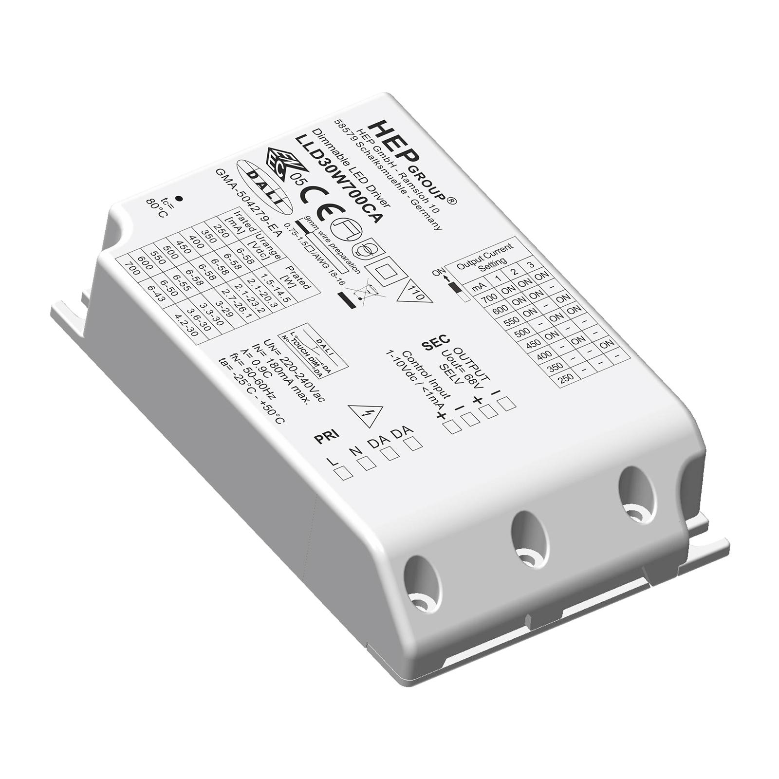 LED-Treiber LLD, 30 W, 900 mA, dimmbar, CC