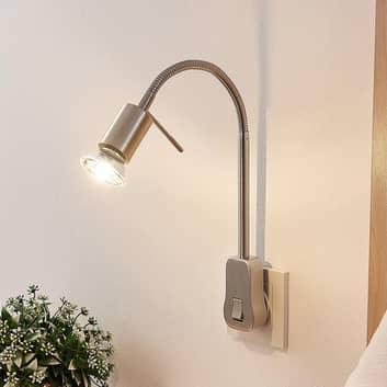 Lindby Ahoja lampe prise, bras flex, interrupteur