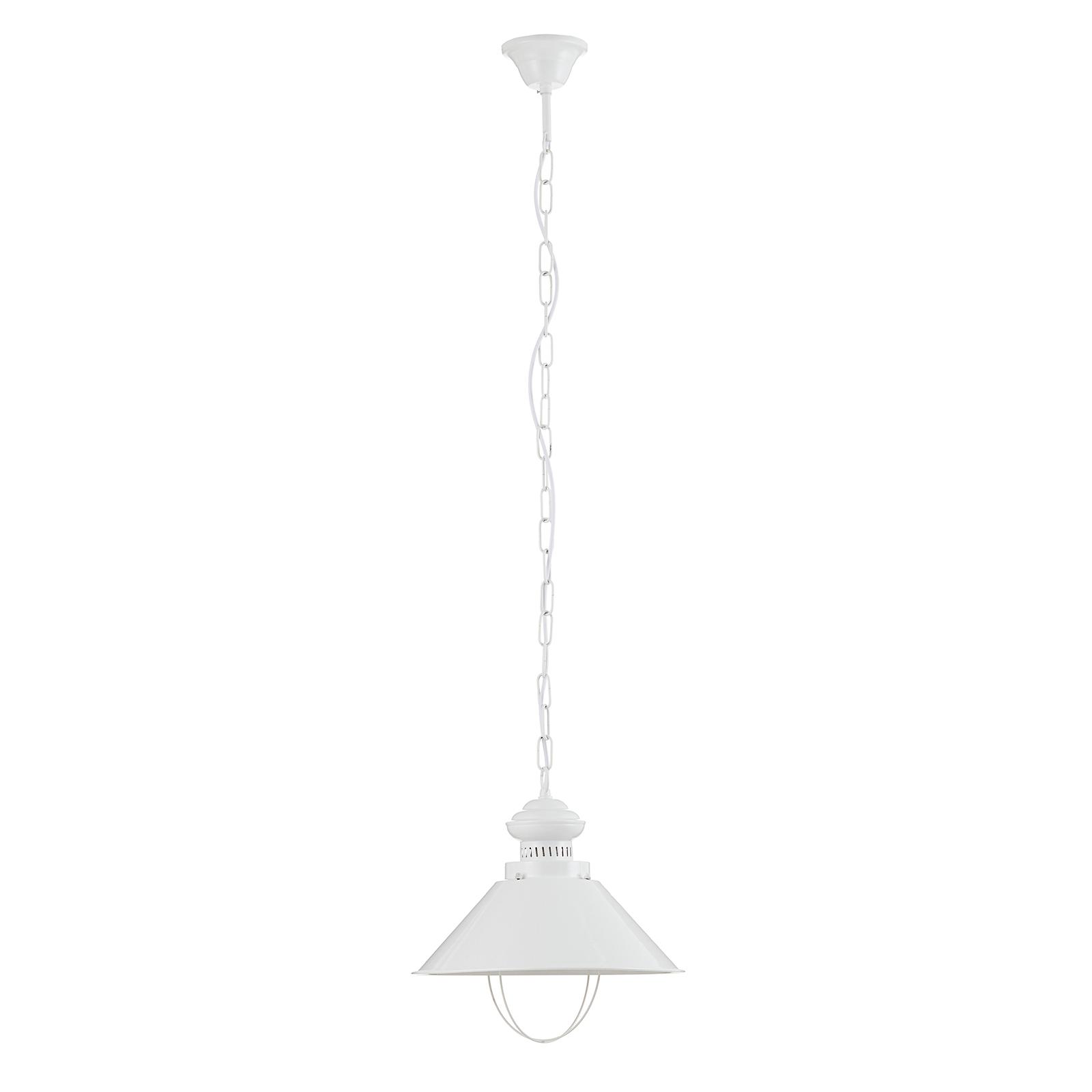 Eenvoudige witte hanglamp Harvey