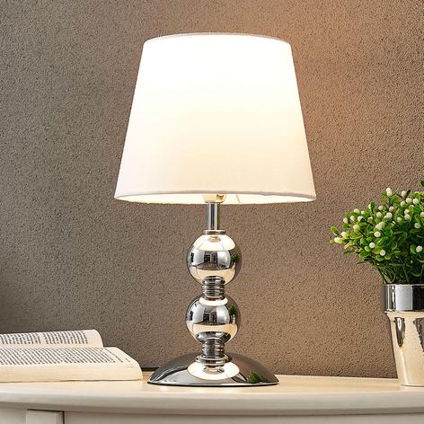Stolní LED lampa Minna, chrom-bílá
