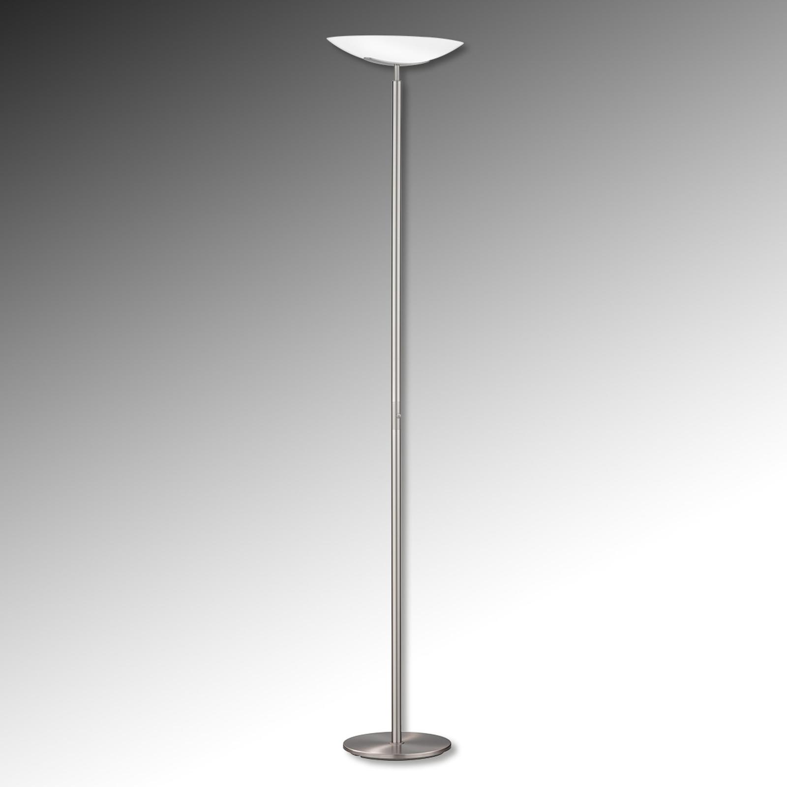 Stojací lampa Novale nikl matný dotykový stmívač