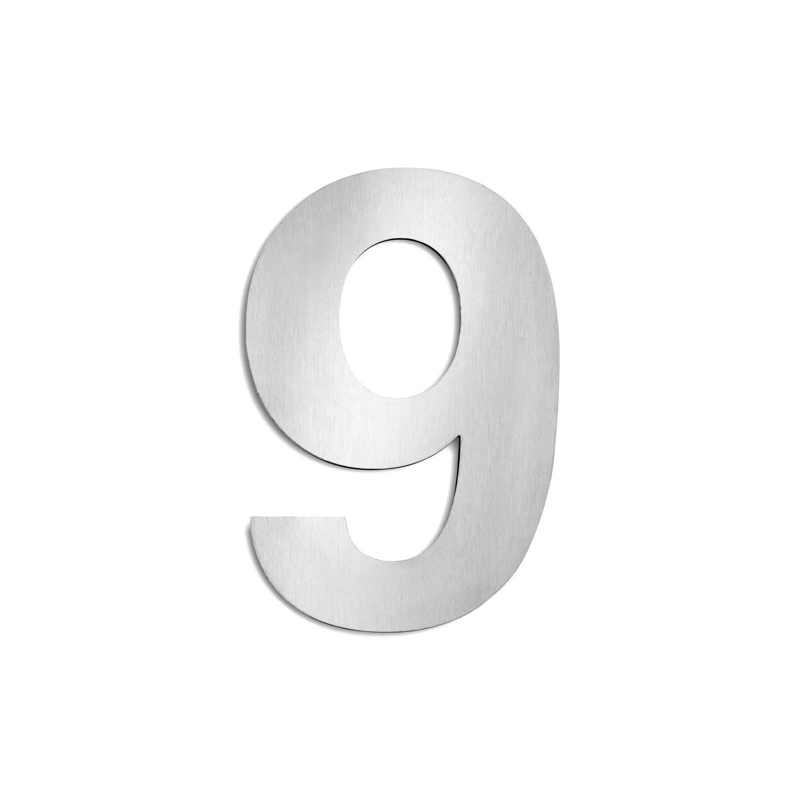 Domovní čísla z ušlechtilé oceli velikost 9