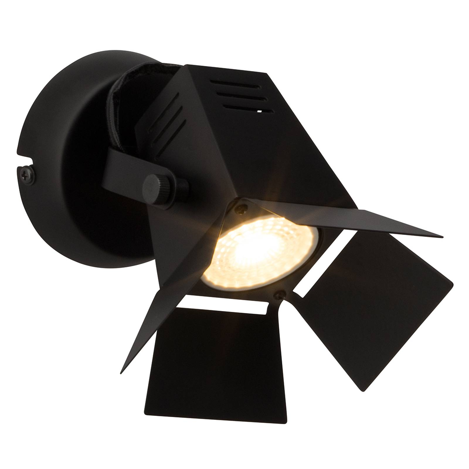 Technische LED wandlamp Movie, zwart