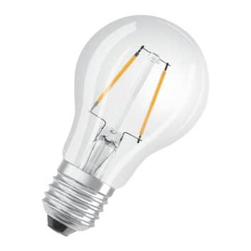 OSRAM Classic A LED-pære E27 2,5 W 2700K klar