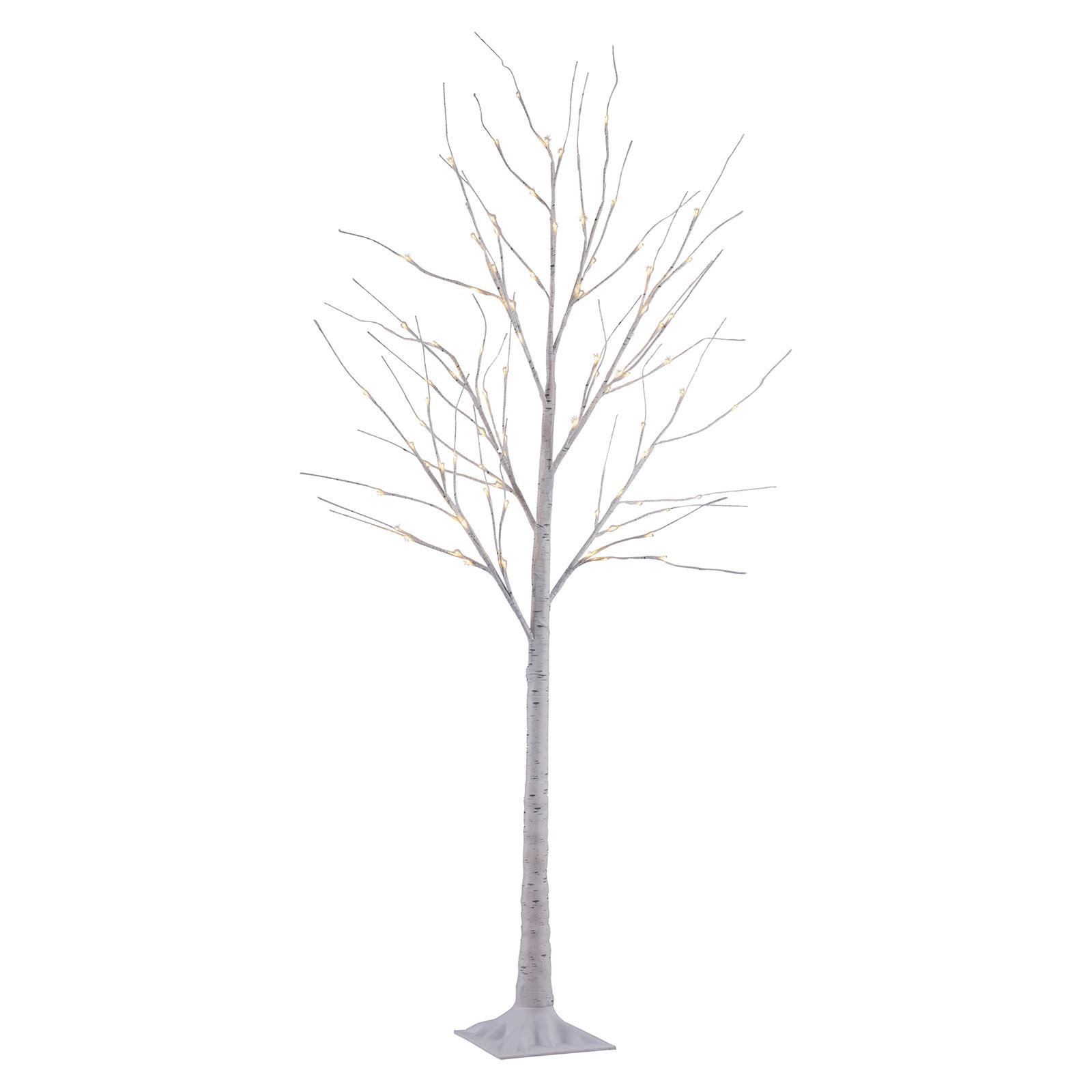 Birch LED-dekor.belysning, hvit, IP44, høyde 180cm