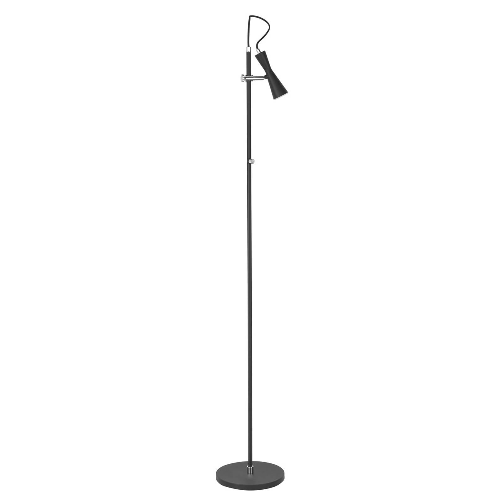 Move - eine schwarze LED-Stehlampe mit Pfiff