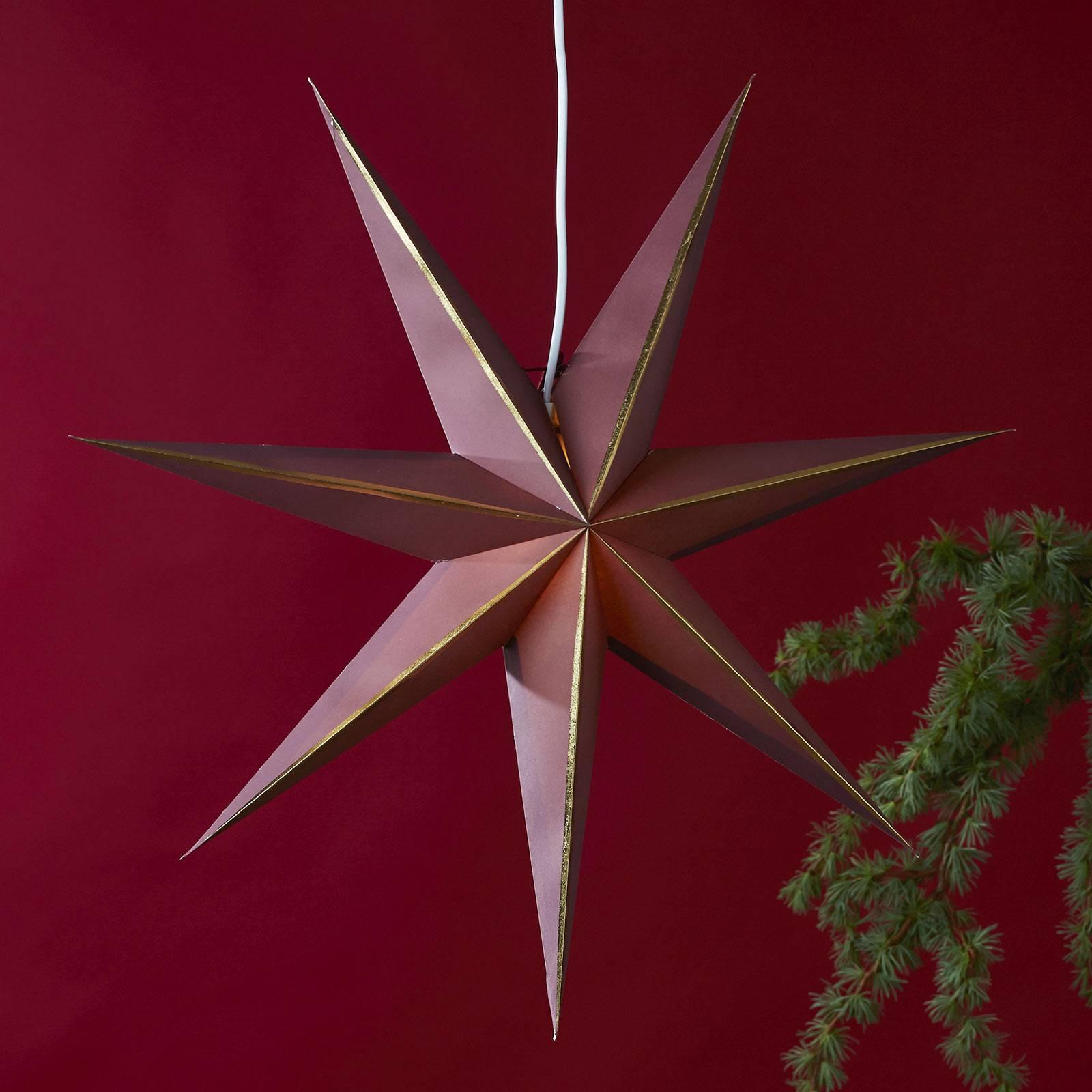 Stella Lysa di carta, rosso/oro