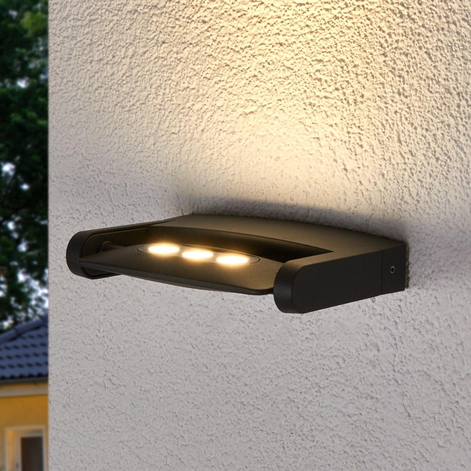 Udendørs vægspot Keiran m. 3 Power LED'er