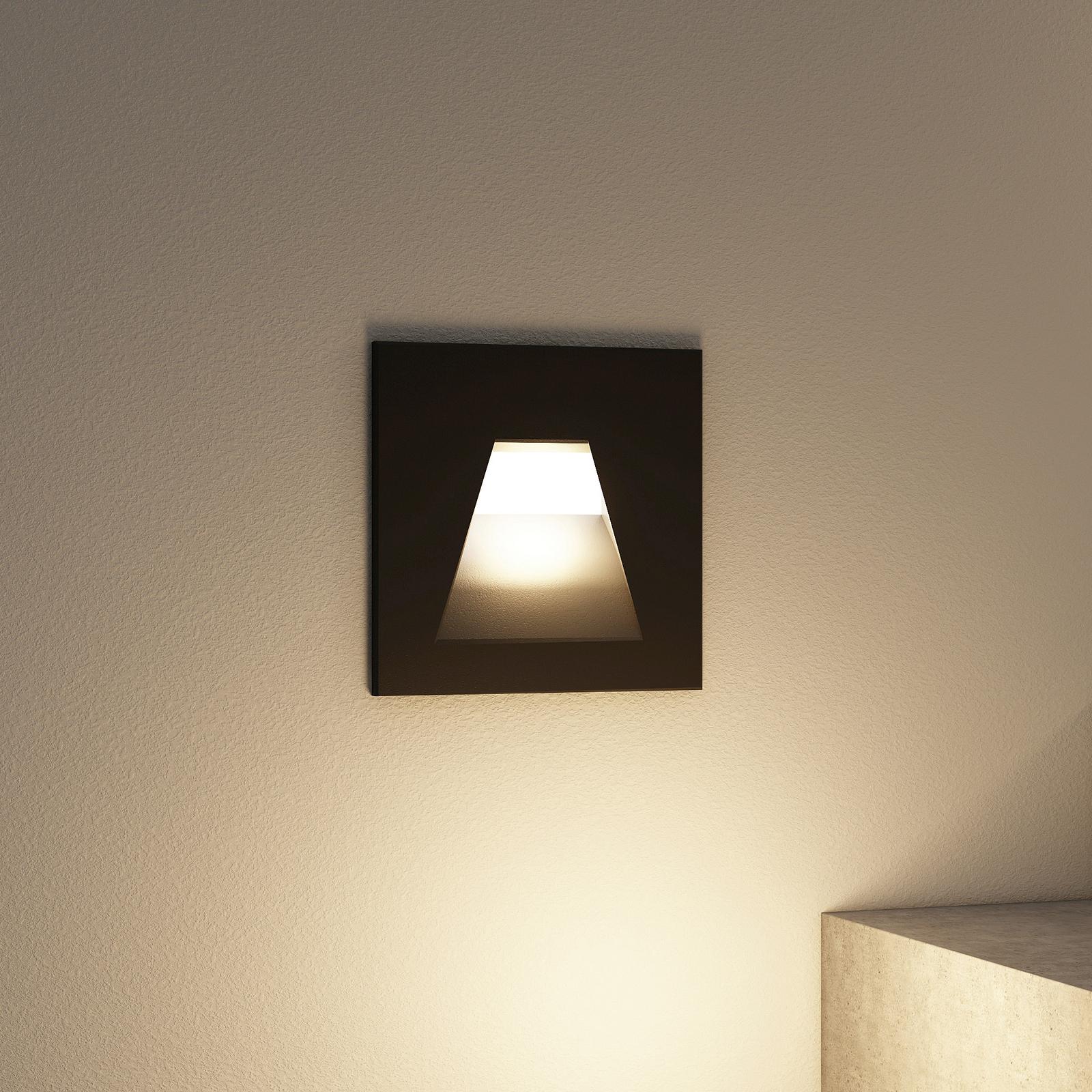 Arcchio Lasca LED-Einbauleuchte, schwarz