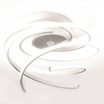 LED stropní svítidlo Lungo hliník, výška 25 cm