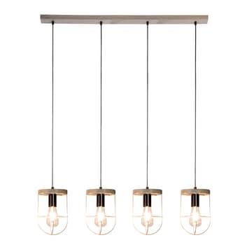 Envolight Neptuna hængelampe, 4 lyskilder, lineær