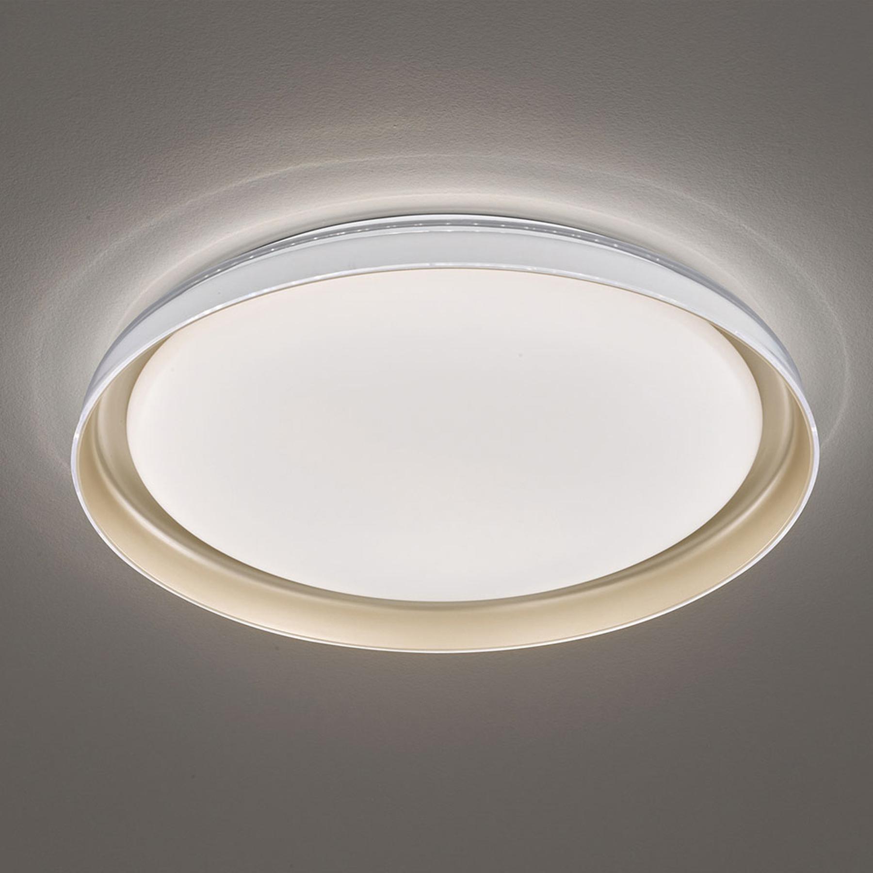 Lampa sufitowa LED Rilla, ściemniana, Ø 43 cm