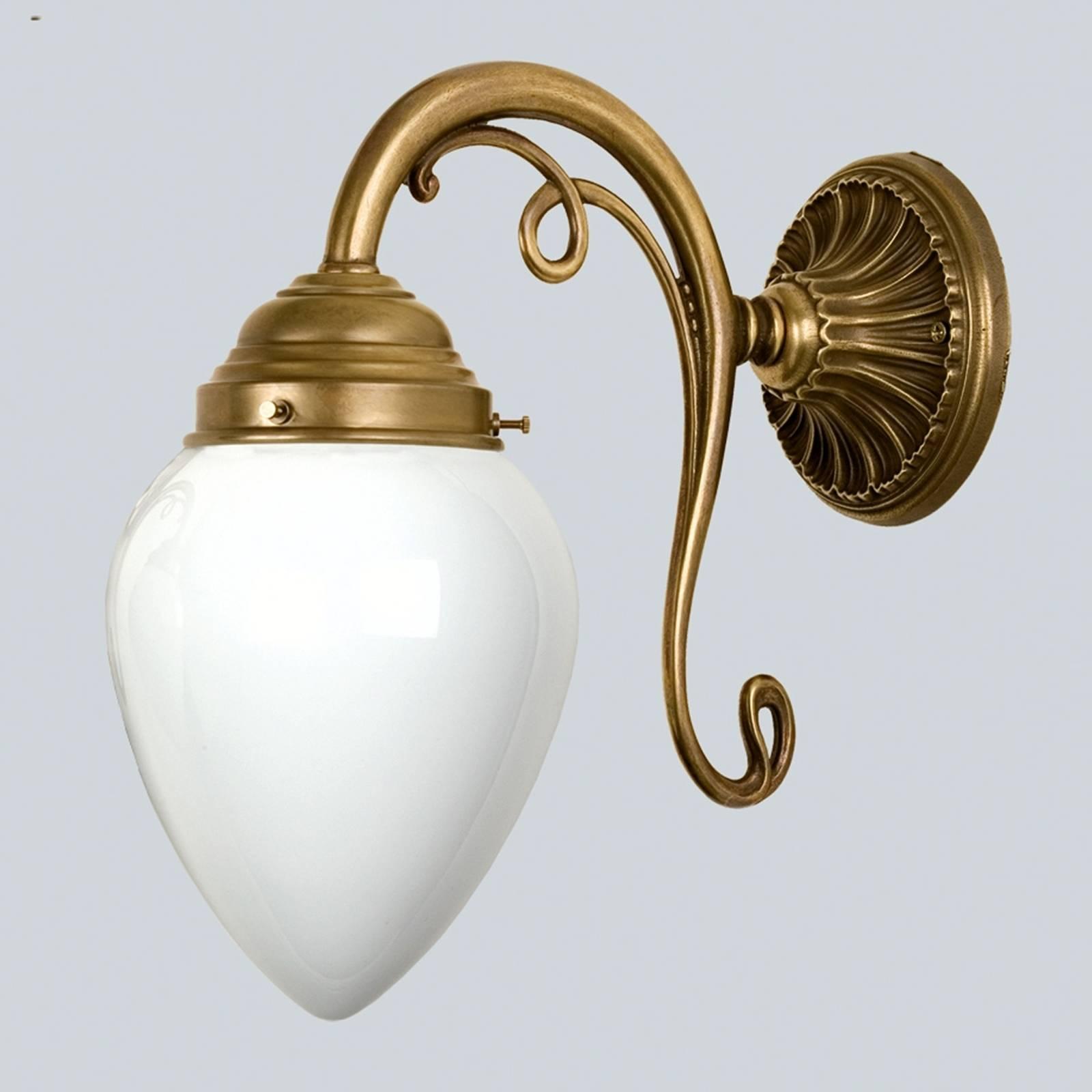 Elegante wandlamp Paris van messing