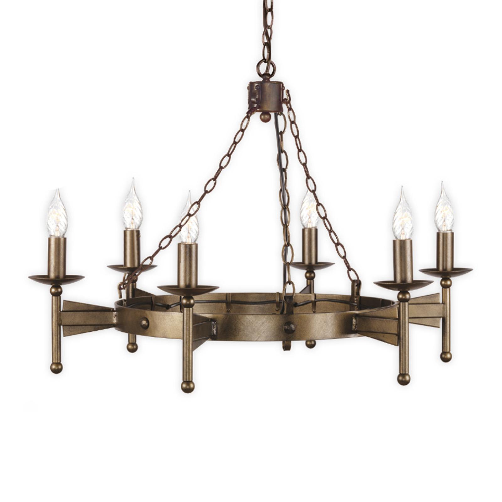 Lustre médiéval à 6 lampes CROMWELL