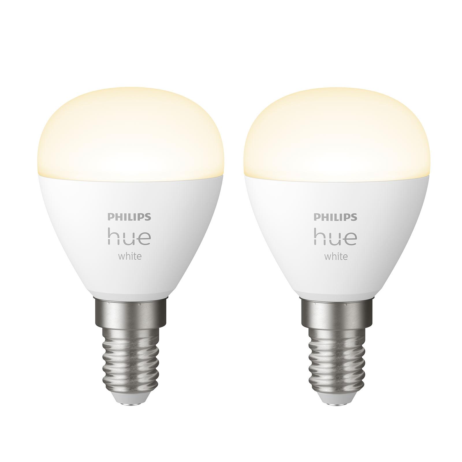 Philips Hue White LED-Tropfenlampe 2 x E14 5,7W