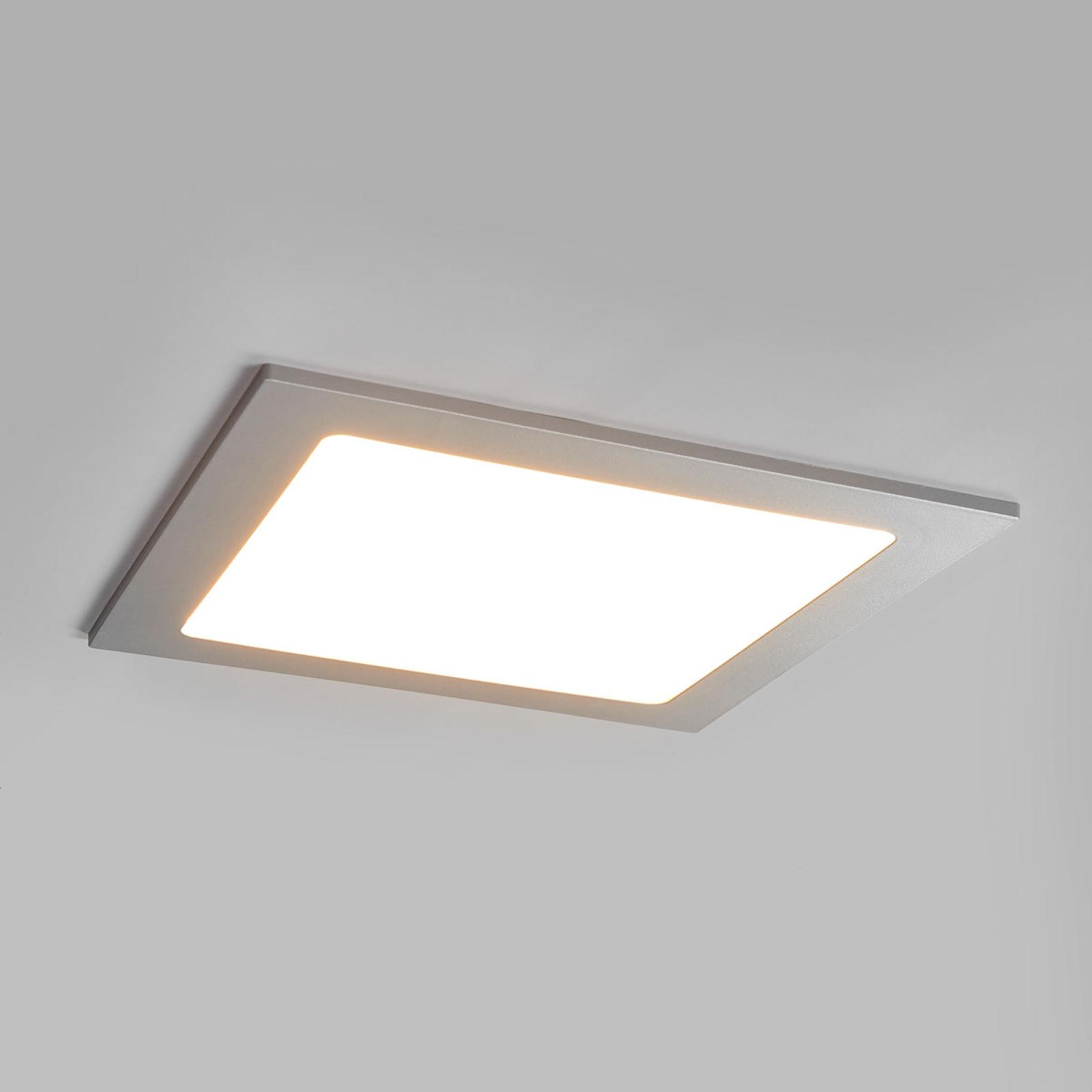 LED-Einbaustrahler Joki silber 3000K eckig 22cm
