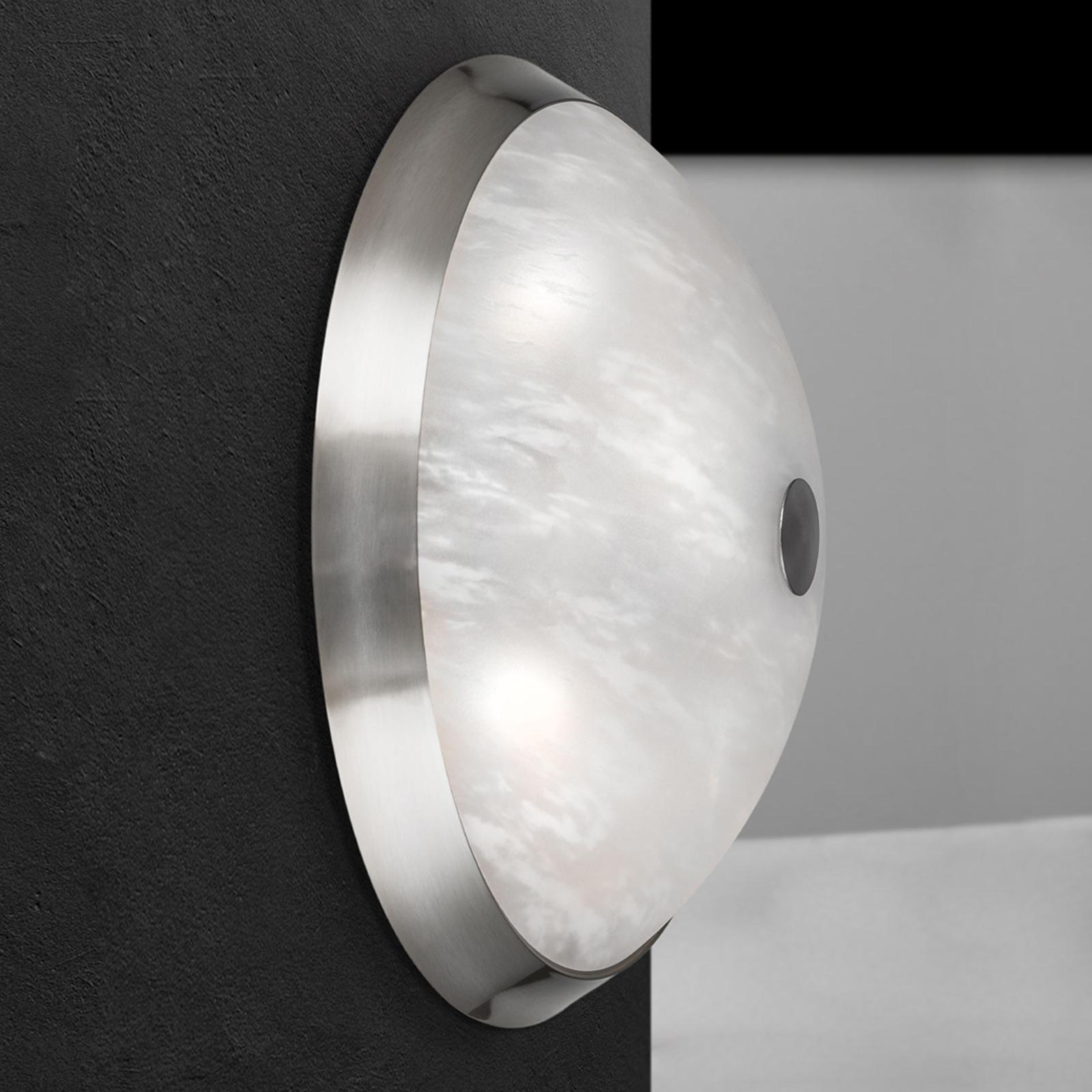 Plafondlamp Jaya in mat nikkel, 42 cm