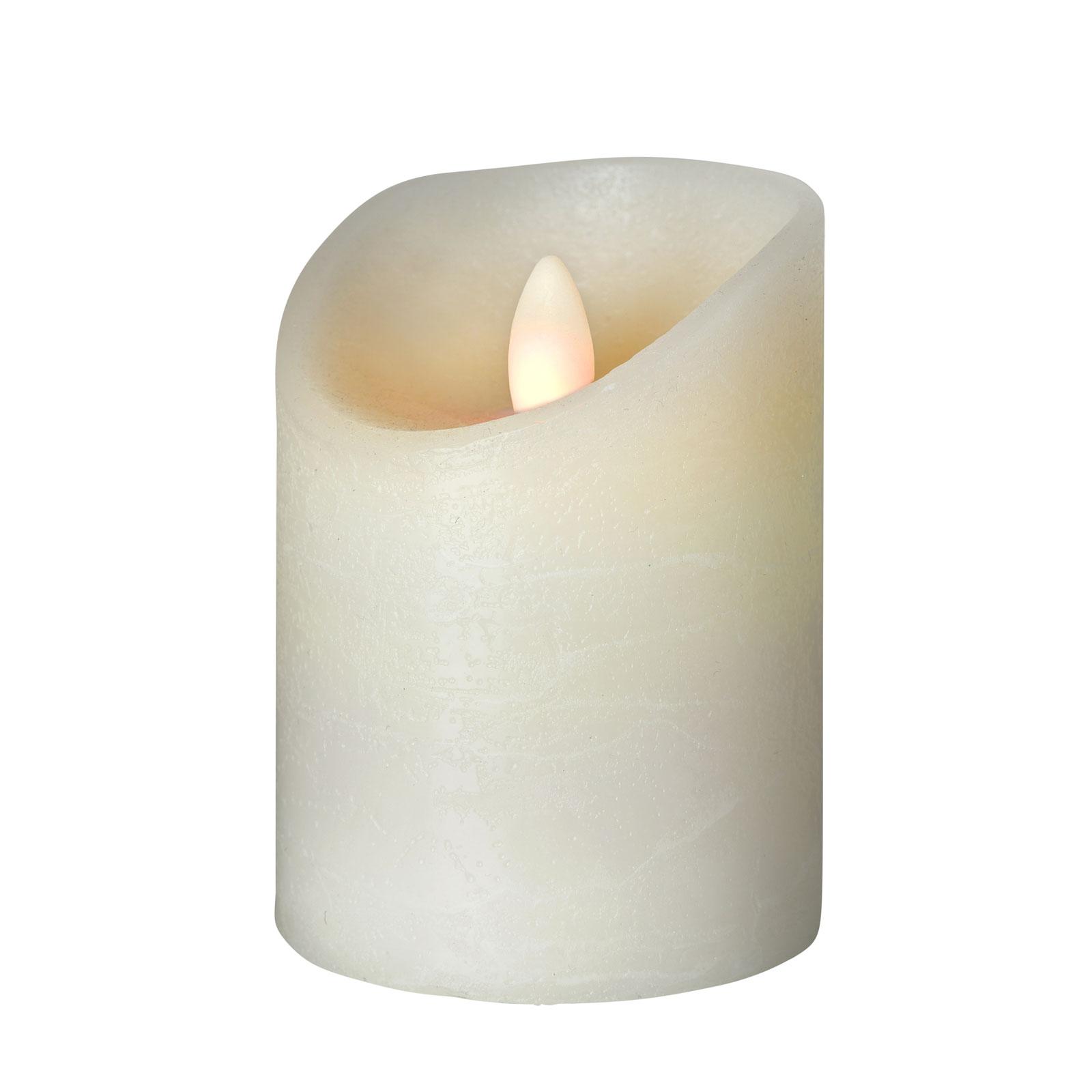 LED-lys Shine, Ø 7,5 cm, elfenben, høyde 12,5cm