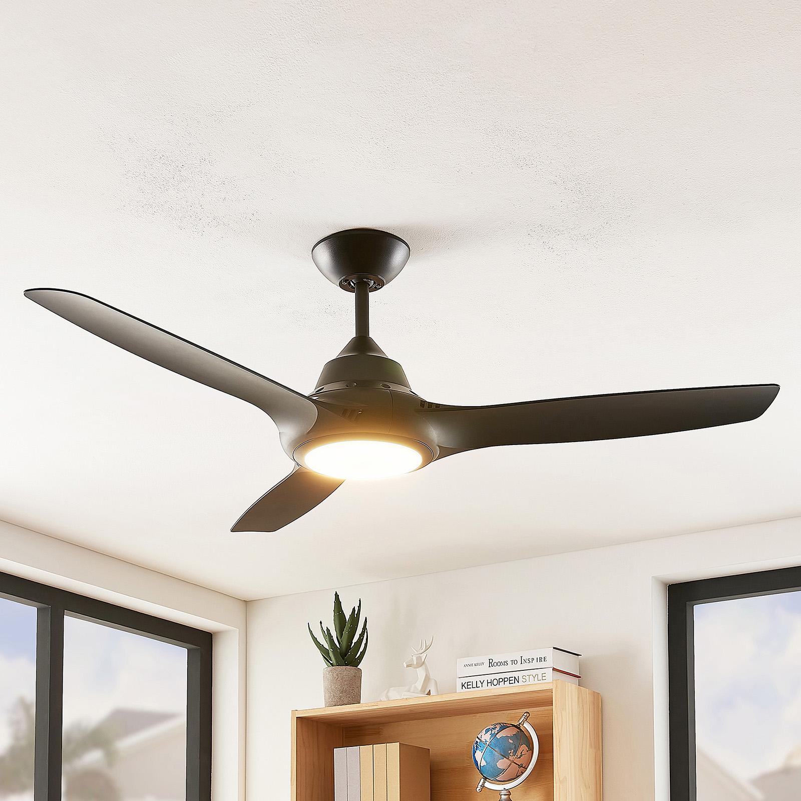 Arcchio Aila ventilatore LED, 3 pale, nero