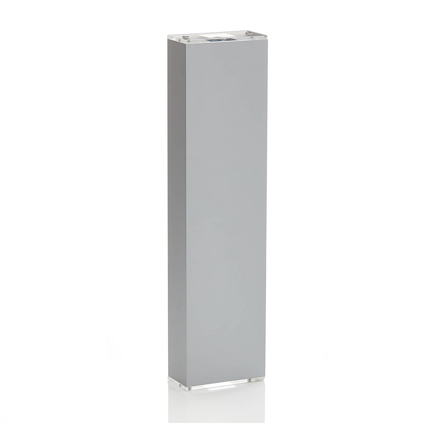 Lucande Anita LED wandlamp zilver hoogte 17cm