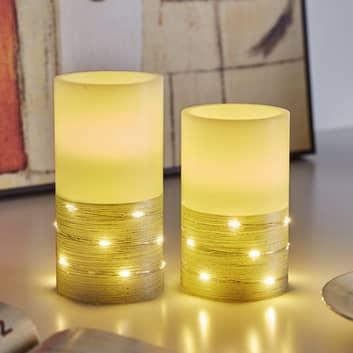 Pauleen Fairy Lights Candle LED-kerte, sæt med 2