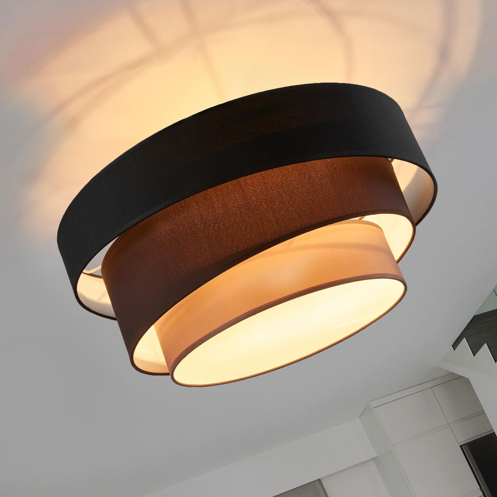 Melia tiltalende svart og brun taklampe