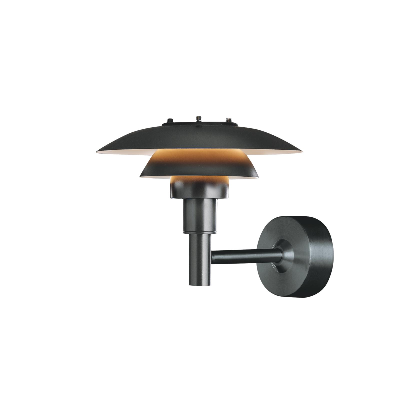 Louis Poulsen PH 3-2 1/2 væglampe af rustfrit stål