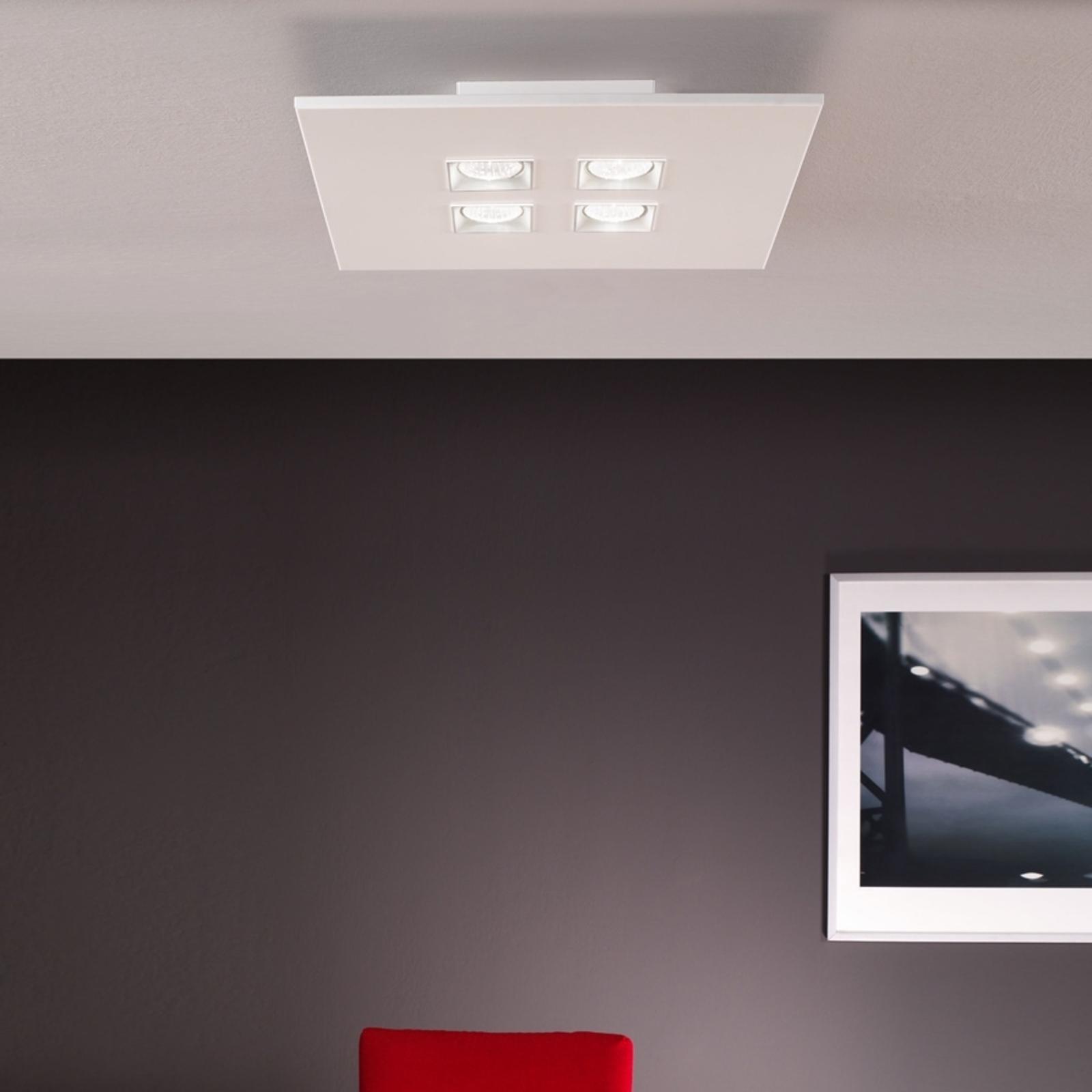 Taklampe Polifemo hvit 4 lys