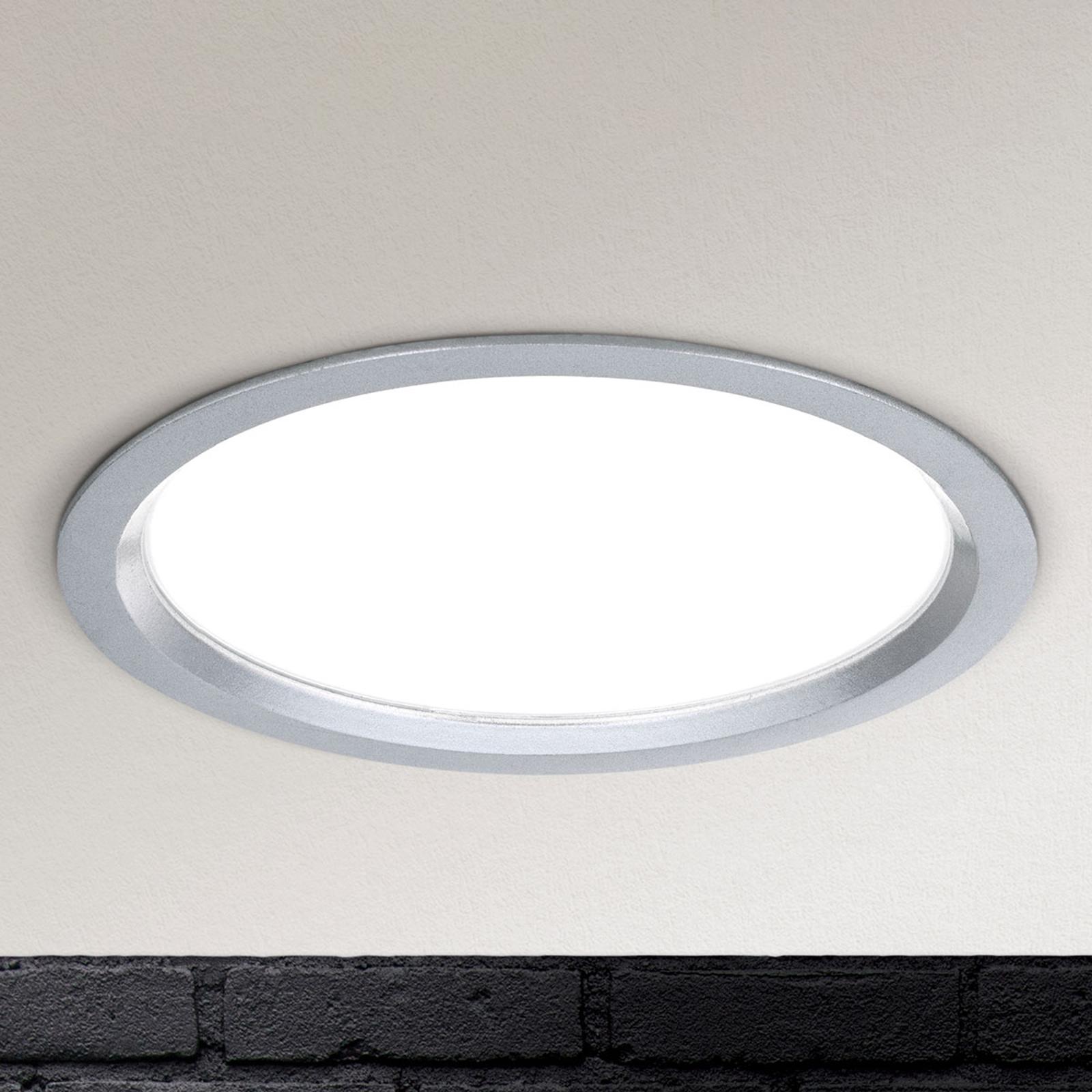 Luce LED da incasso Spock Ø 17 cm argento