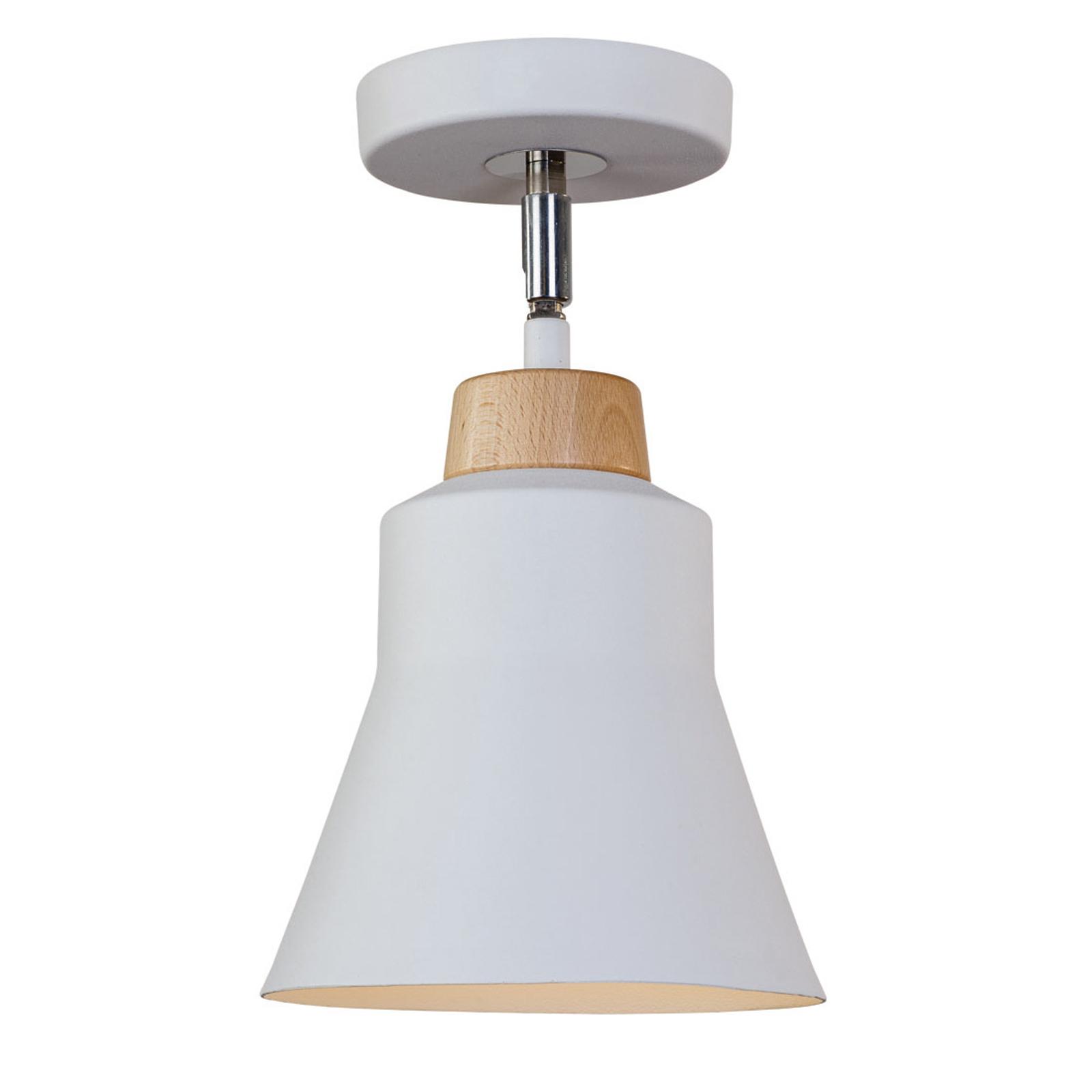 Lampa sufitowa Wood z metalu, biała