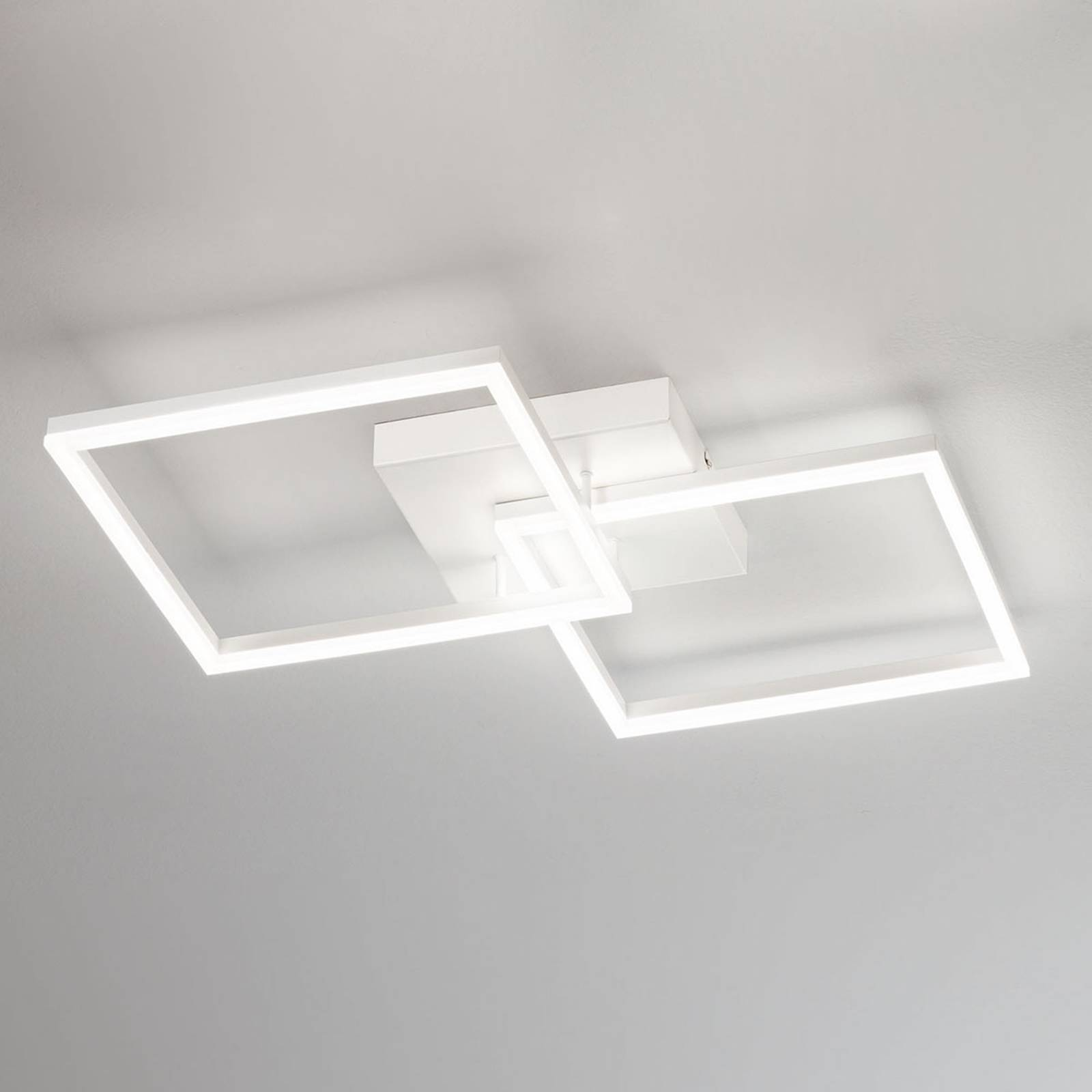 Nowoczesna lampa sufitowa LED Bard, biała