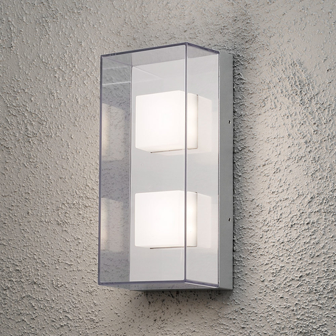 Rechteckige LED-Außenwandleuchte Sanremo