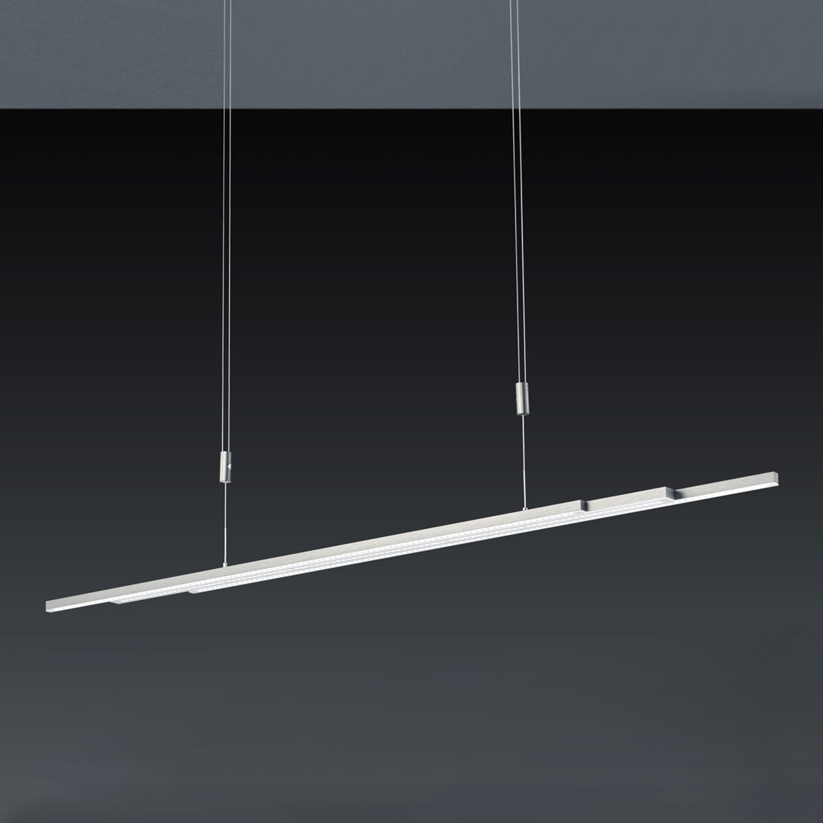 BANKAMP L-lightLINE lampa wisząca LED, nikiel