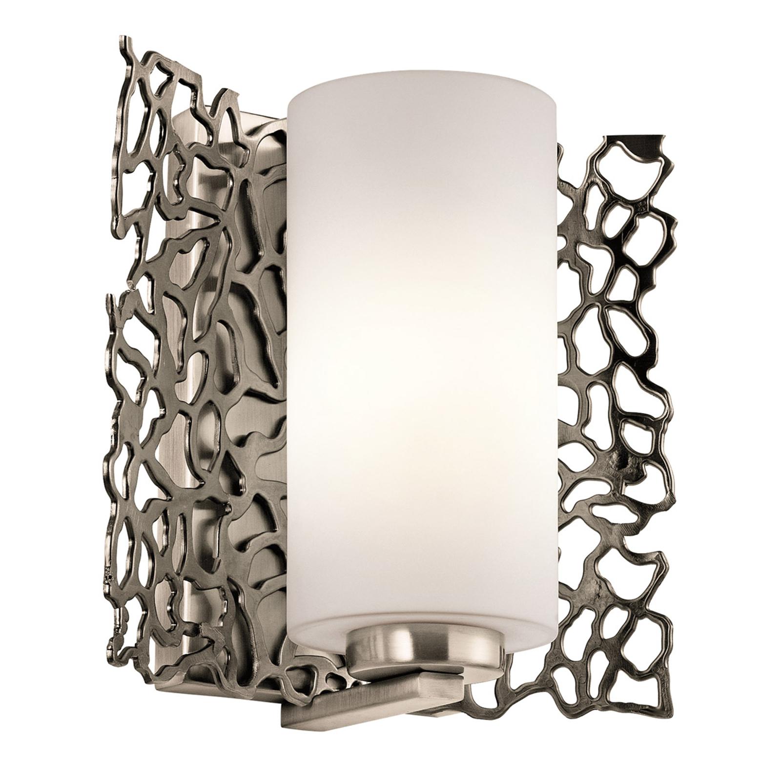Ekstrawagancka lampa ścienna Silver Coral