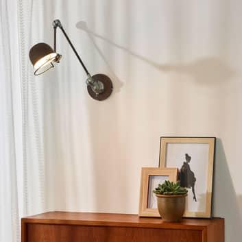 Rustbrun industri-væglampe Honore, indstillelig
