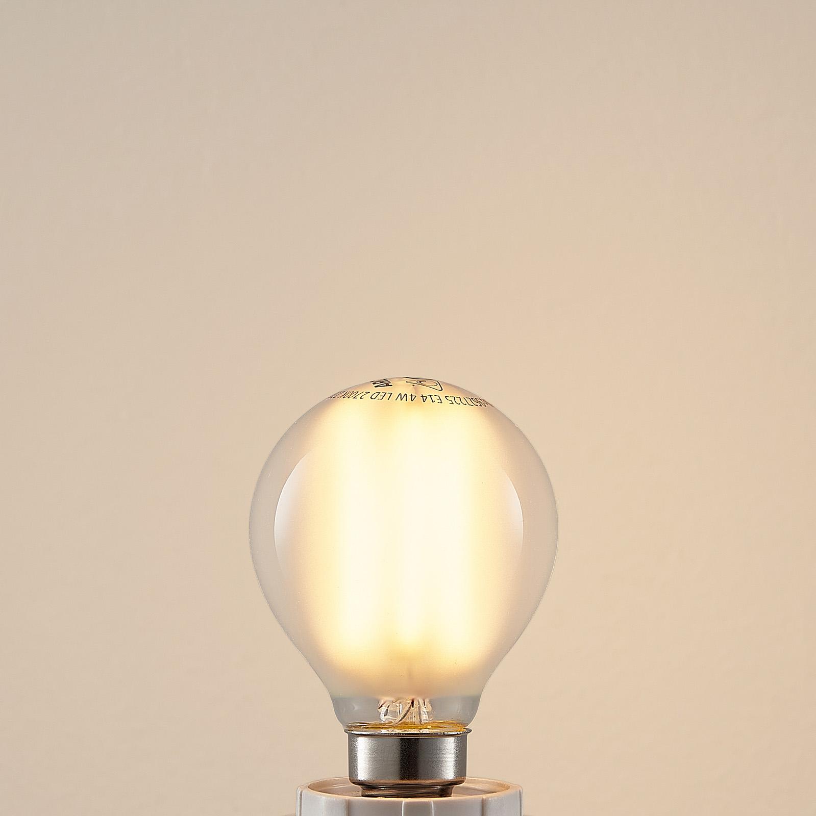E14 4 W 5 W 2.700 K LED-pære dråbe mat, kan dæmpes