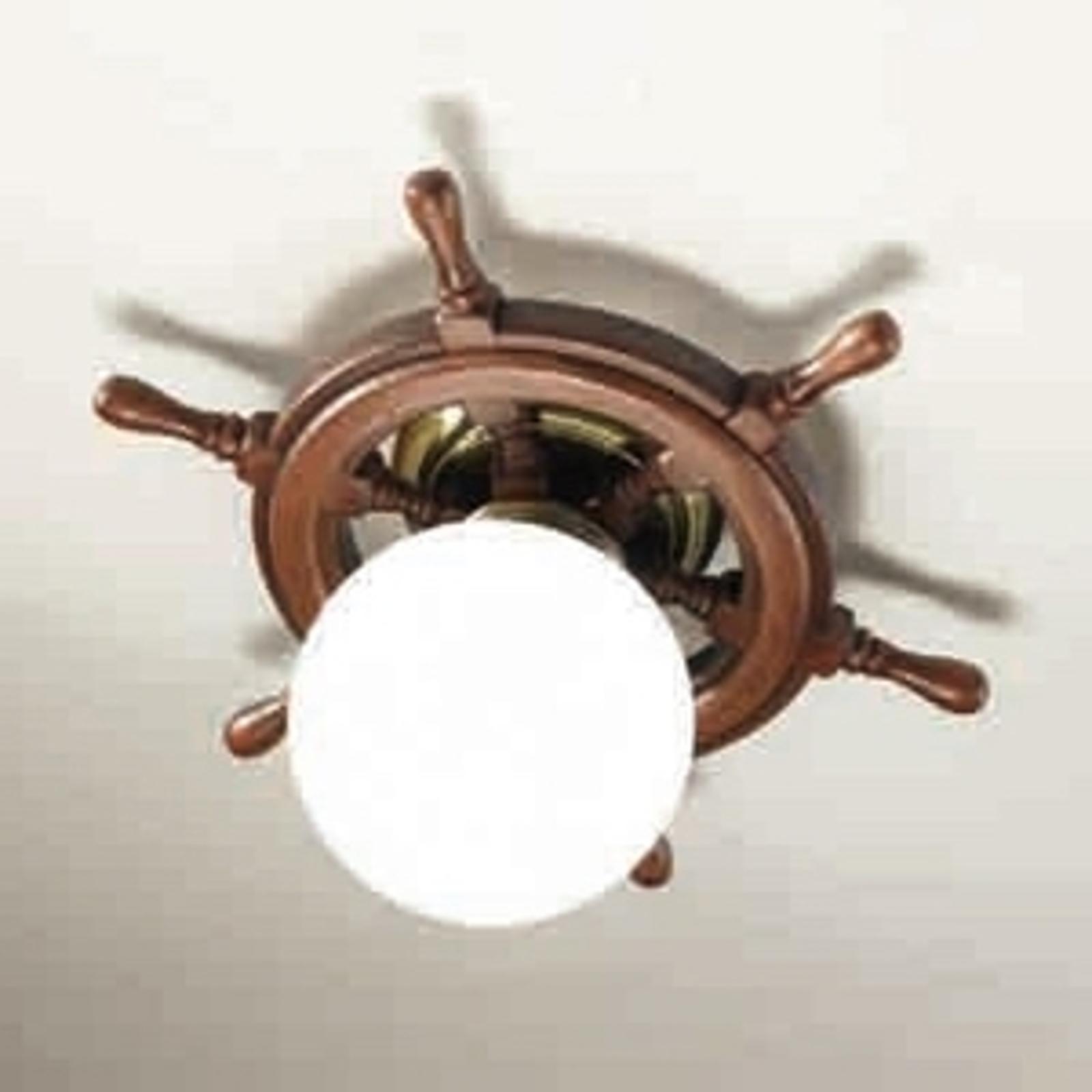 Vacker plafondlampa Timone, vitt klotglas