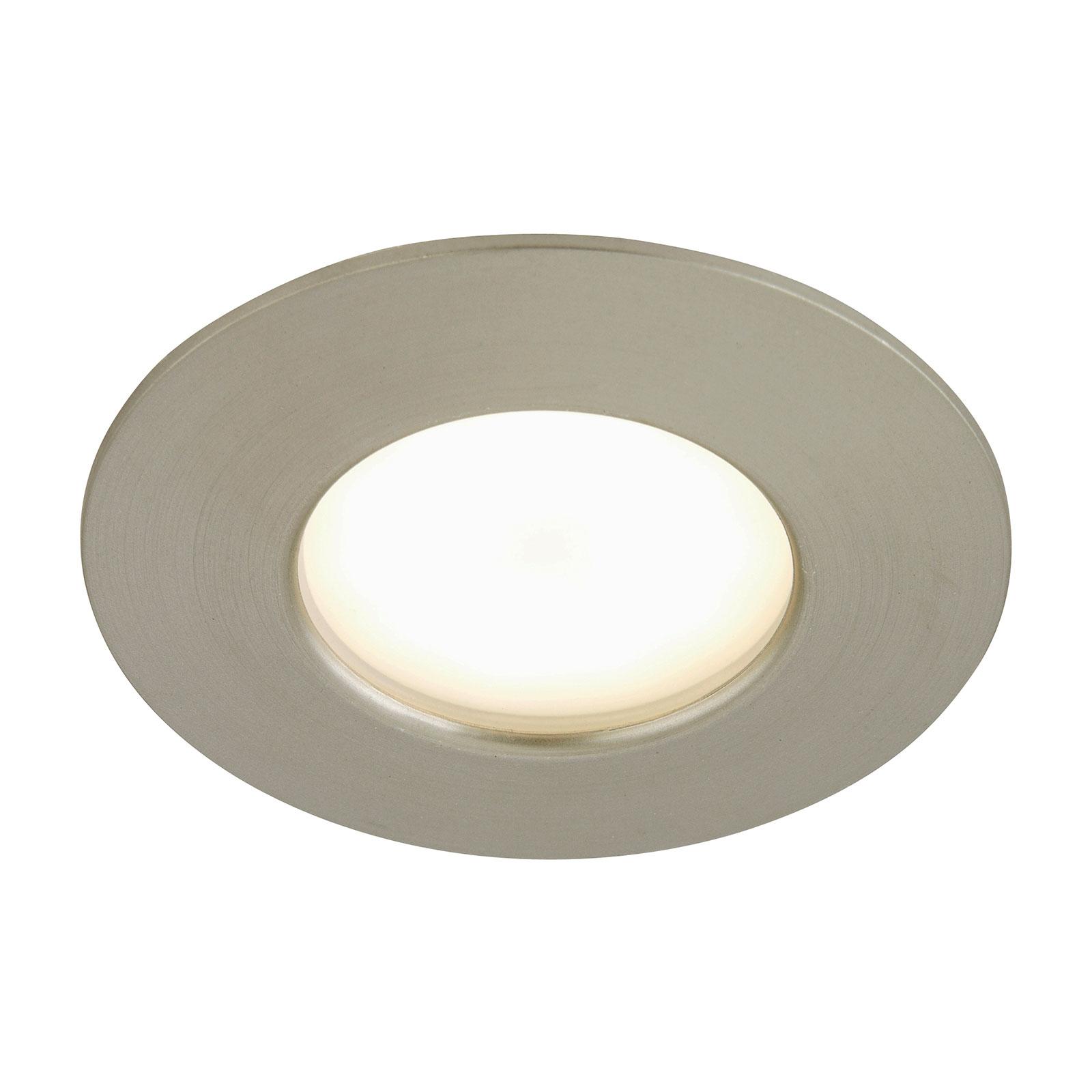 Oprawa wpuszczana LED Till, zewnętrzna, niklowana