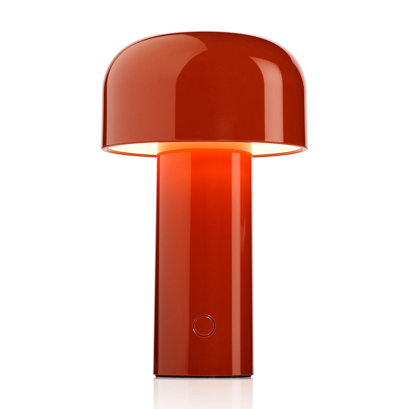 FLOS Bellhop aufladbare LED-Tischleuchte ziegelrot