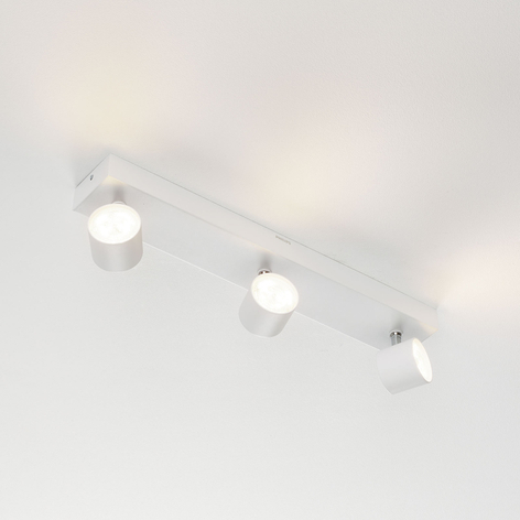 3 lyskilder LED spot Star, warmglow, hvit