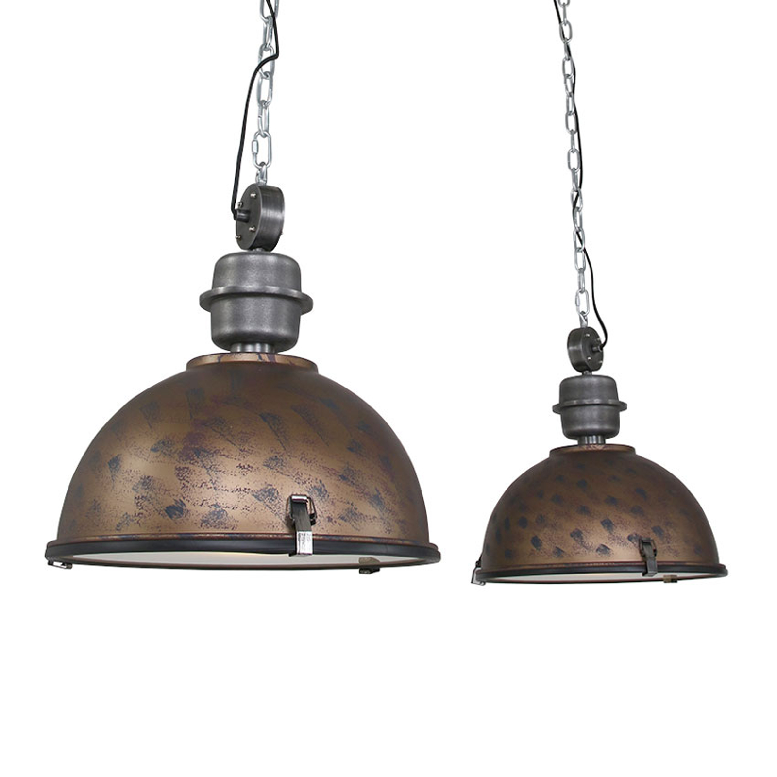 Suspension Bikkel 2 lampes, brun