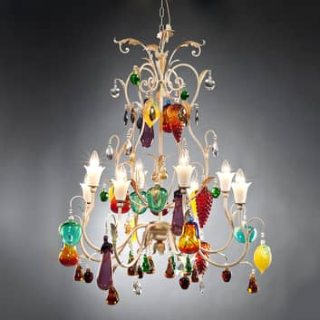 Lustre design original Meldra à 8 lampes
