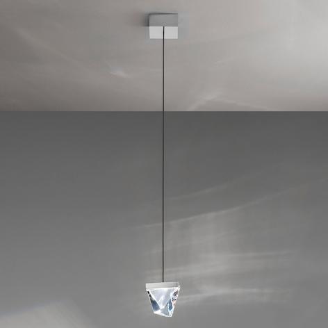 Fabbian Tripla lámpara colgante LED cristal