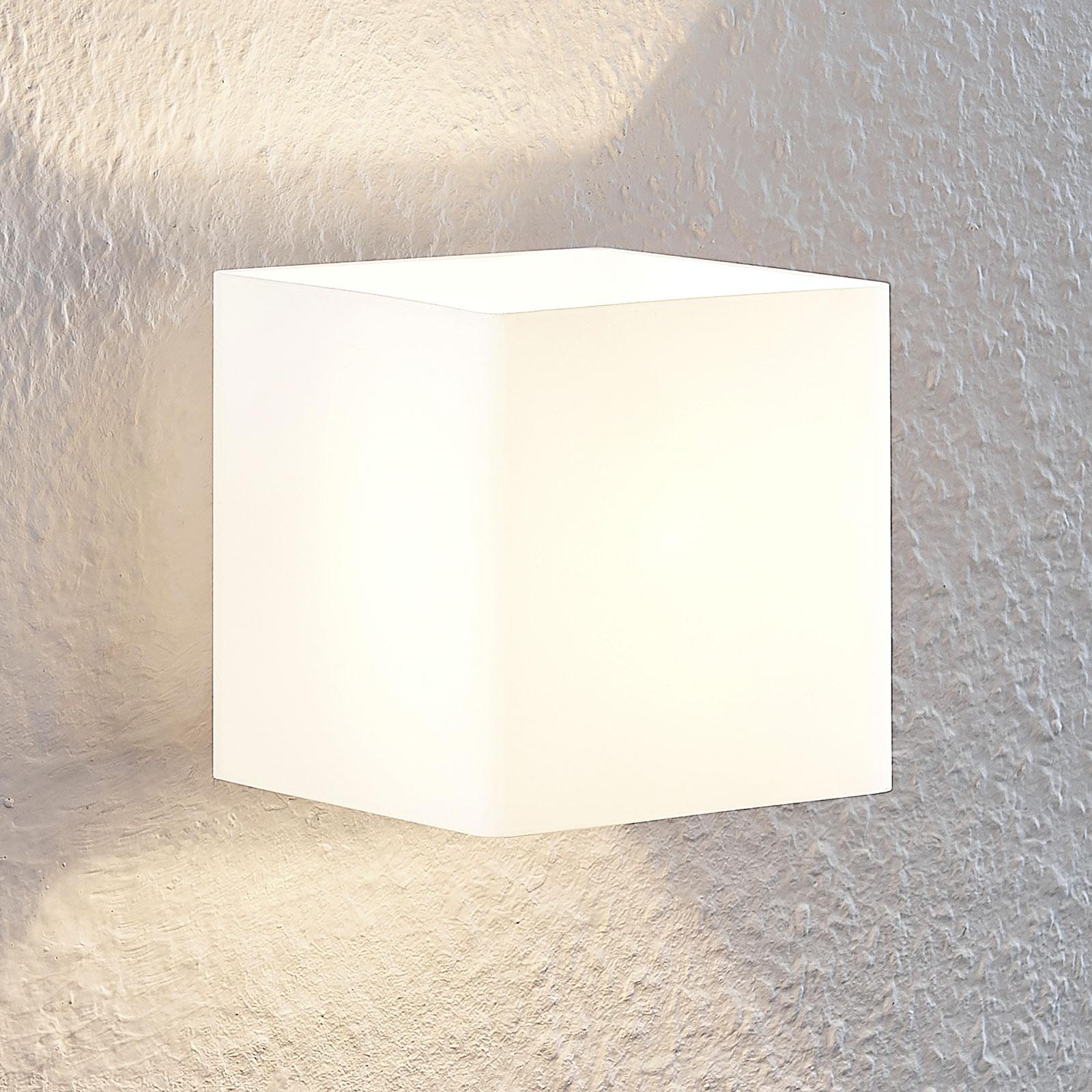 Lindby Nanda szklana lampa ścienna, kątowy