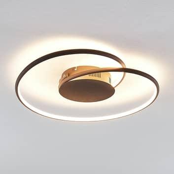 Lindby Joline LED-Deckenleuchte, rost, 45 cm