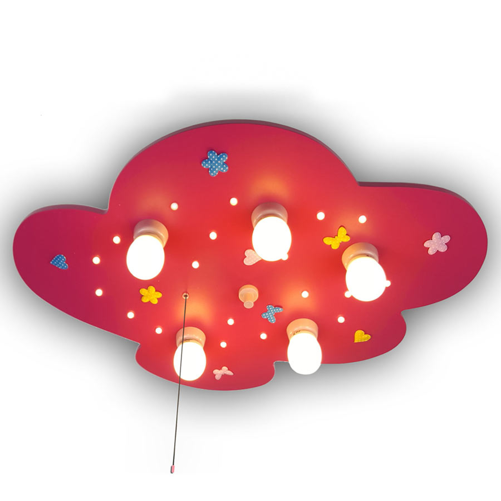 Lampa sufitowa Chmurka z kwiatowym wzorem