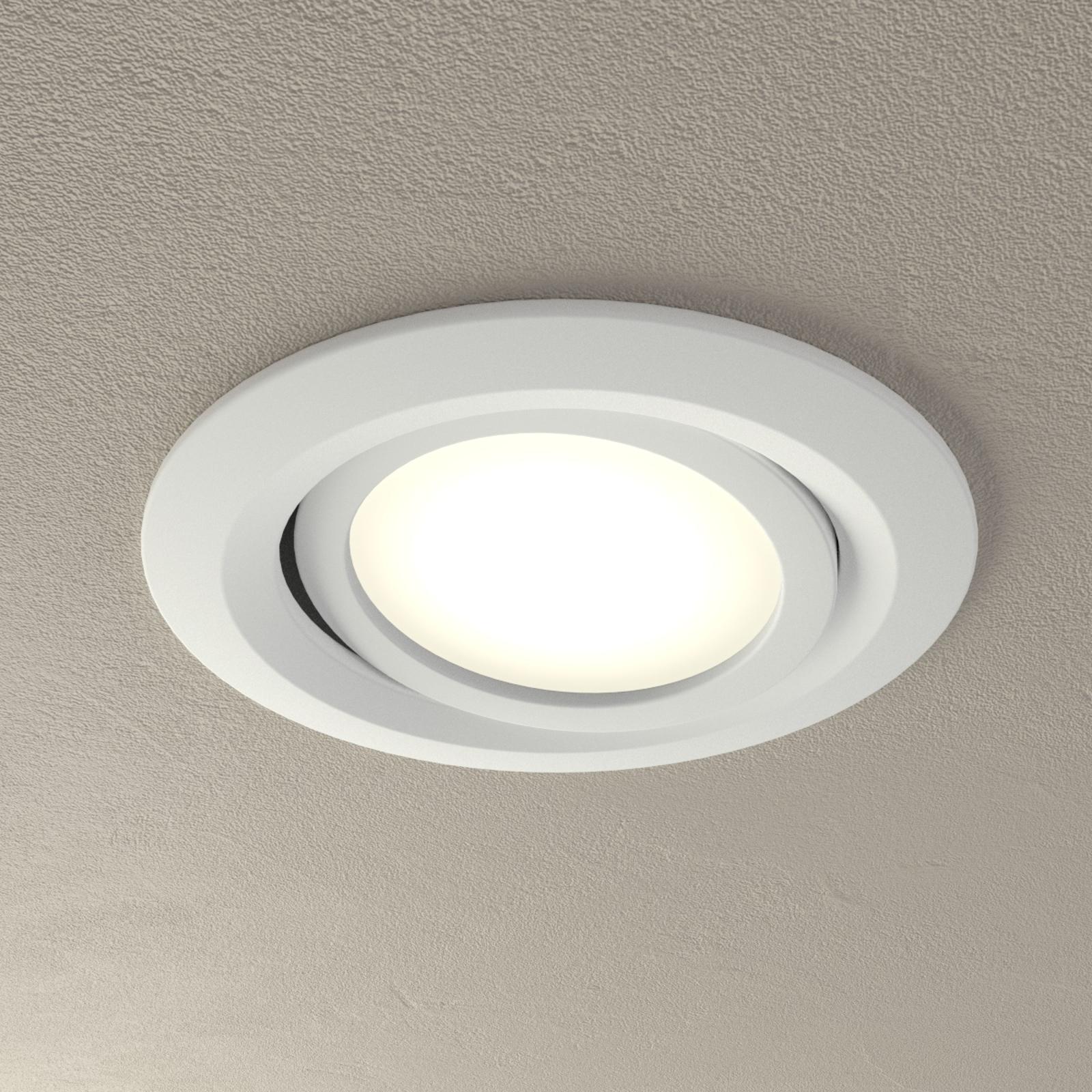LED-Inbyggnadslampan Coin Slim IP23, set om 1, vit