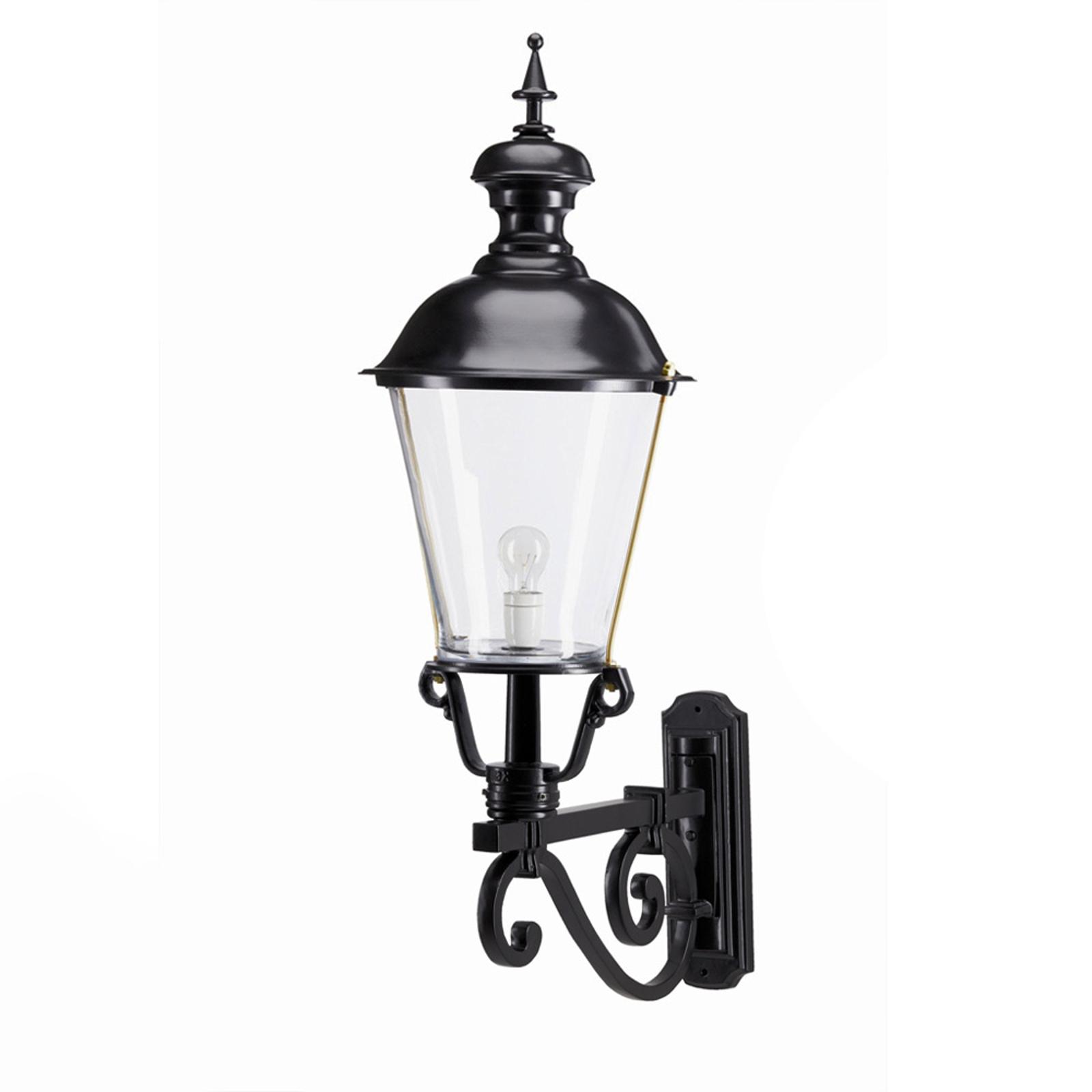 NOTARIS L - zewnętrzna lampa ścienna, czarna