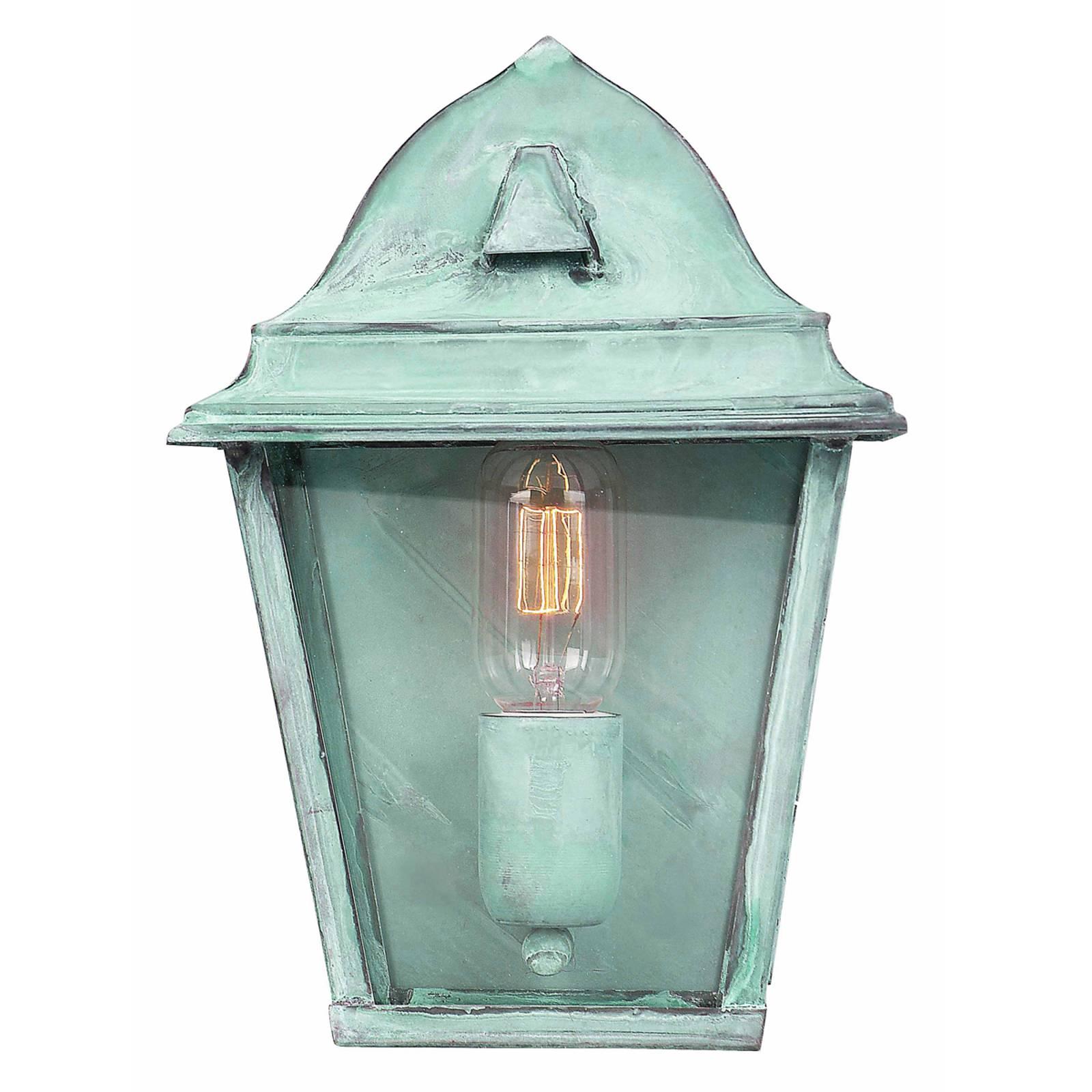 Groene buitenwandlamp St. James Verdi van messing